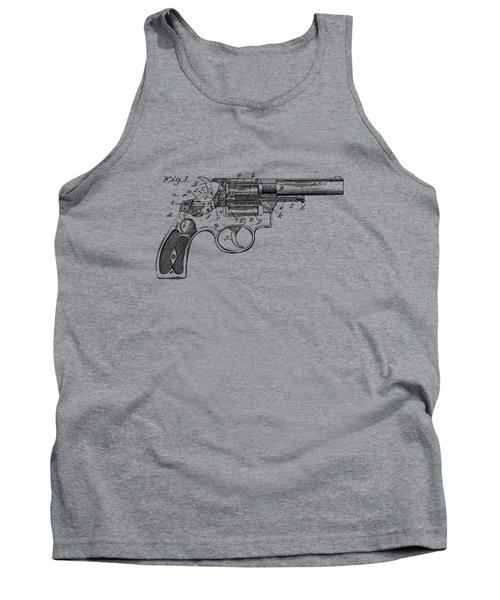 1896 Wesson Safety Device Revolver Patent Minimal - Vintage Tank Top