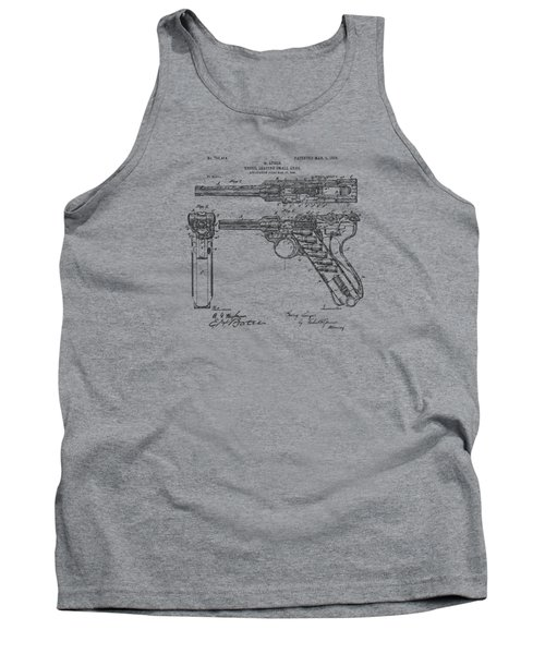 1904 Luger Recoil Loading Small Arms Patent - Vintage Tank Top