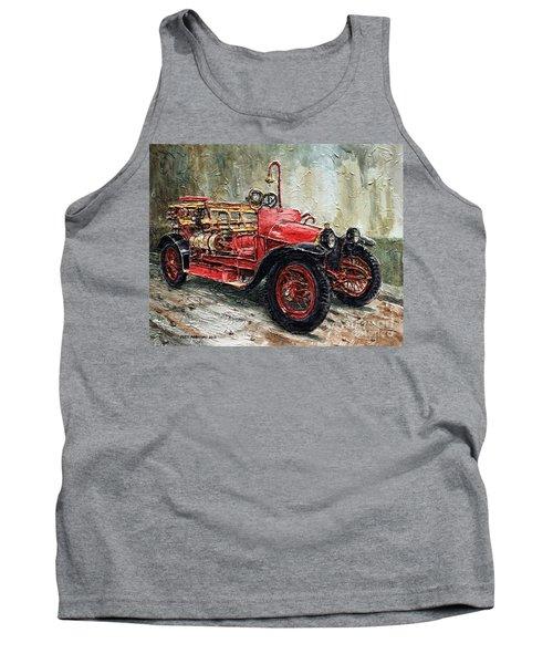 1912 Porsche Fire Truck Tank Top by Joey Agbayani