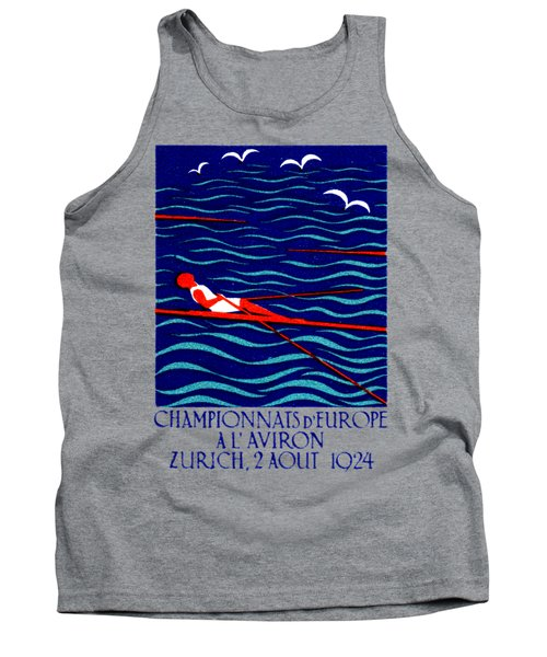 1924 Zurich Rowing Poster Tank Top