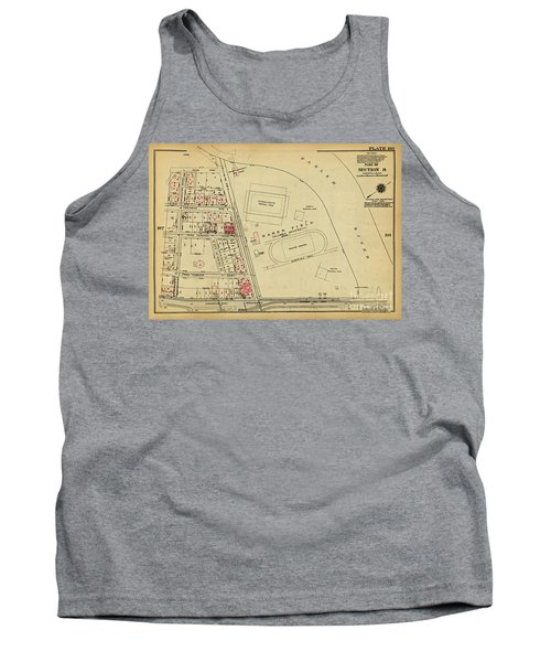 Tank Top featuring the photograph 1927 Baker Field Map  by Cole Thompson
