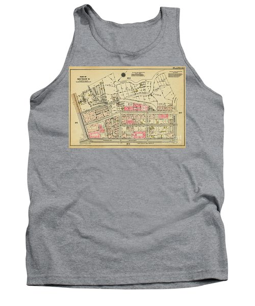Tank Top featuring the photograph 1927 Inwood Map  by Cole Thompson