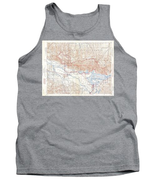 1929 Usgs Map Of Grand Teton National Park Wyoming  Tank Top