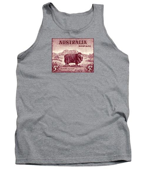 1946 Australian Merino Sheep Stamp Tank Top by Historic Image