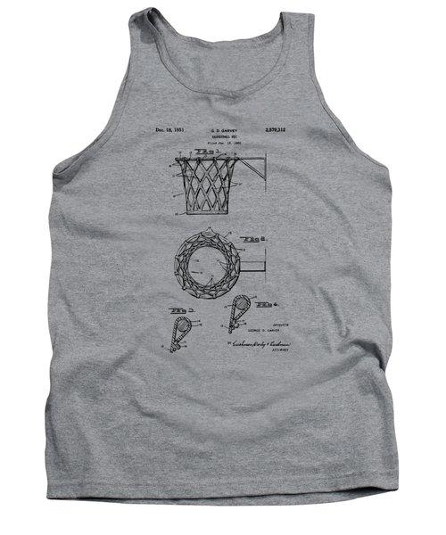 1951 Basketball Net Patent Artwork - Vintage Tank Top by Nikki Marie Smith