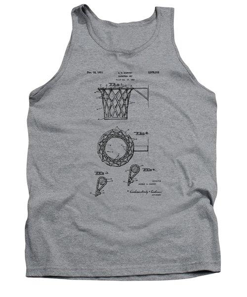 1951 Basketball Net Patent Artwork - Vintage Tank Top
