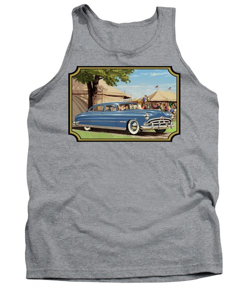 1951 Hudson Hornet Fair Americana Antique Car Auto Nostalgic Rural Country Scene Landscape Painting Tank Top