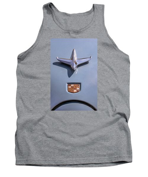 Tank Top featuring the photograph 1951 Studebaker Champion Hood Ornament by Betty Denise