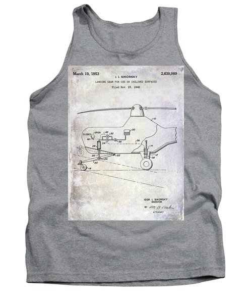 1953 Helicopter Patent Tank Top by Jon Neidert