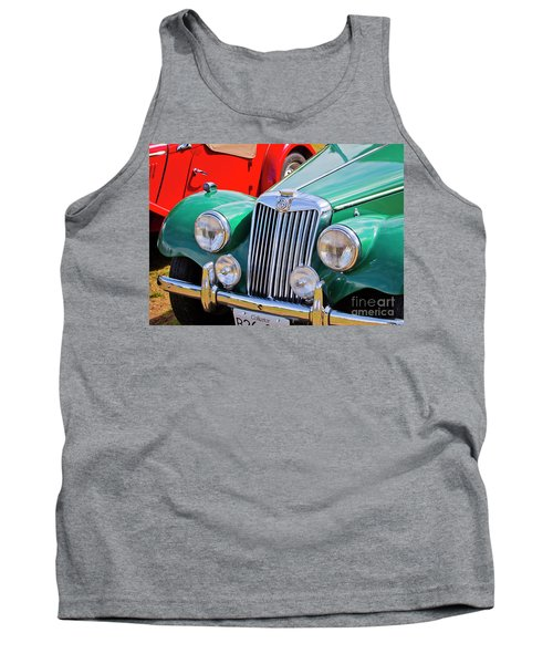 Tank Top featuring the photograph 1954 Mg Tf Sports Car by Chris Dutton