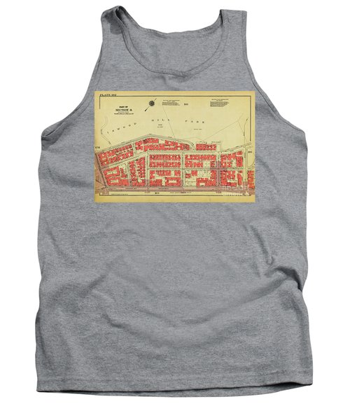 Tank Top featuring the photograph 1956 Inwood Map  by Cole Thompson