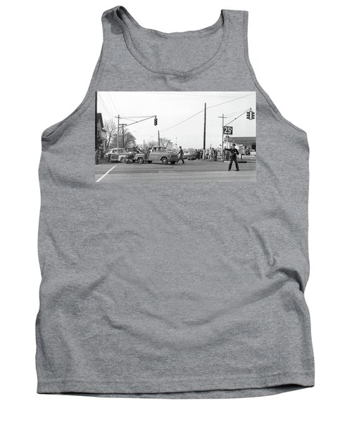 1957 Car Accident Tank Top by Paul Seymour