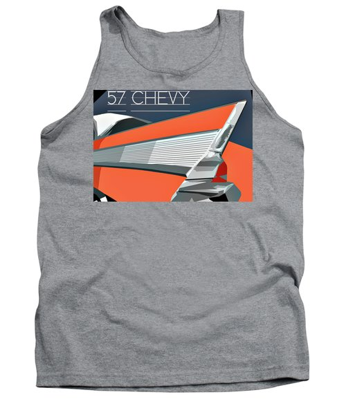 1957 Chevy Art Design By John Foster Dyess Tank Top