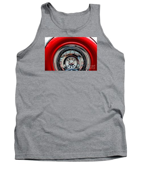 Tank Top featuring the photograph 1958 Ford Crown Victoria Wheel by M G Whittingham