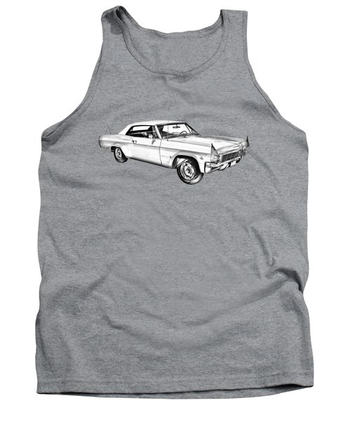 1965 Chevy Impala 327 Convertible Illuistration Tank Top by Keith Webber Jr