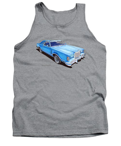 1979 Thunderbird Tee Shirt Art Tank Top by Jack Pumphrey