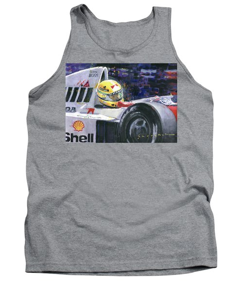 1990 Mclaren Honda Mp4 5b Ayrton Senna World Champion Tank Top