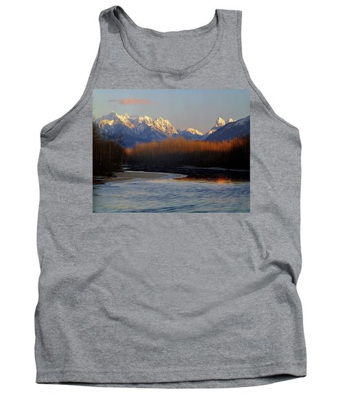 1m4525 Skykomish River And West Central Cascade Mountains Tank Top