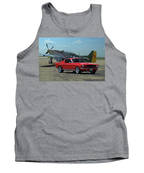 1965 Mustang Fastback Tank Top by Tim McCullough