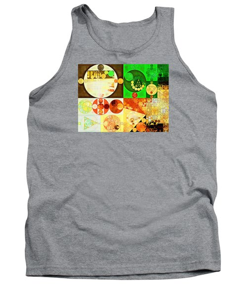 Abstract Painting - Kelly Green Tank Top