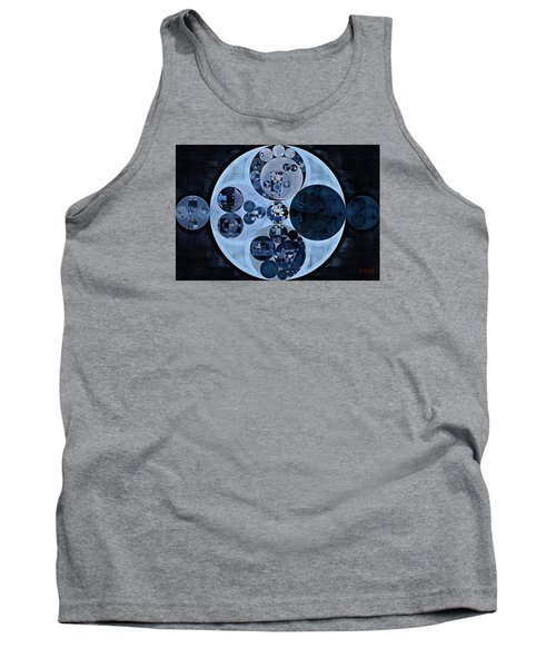 Tank Top featuring the digital art Abstract Painting - Polo Blue by Vitaliy Gladkiy