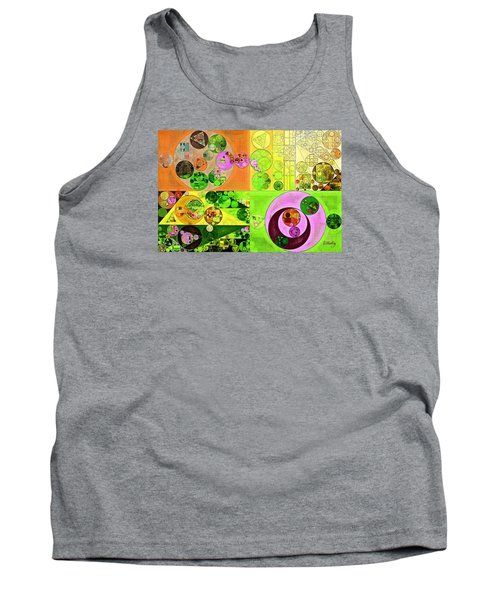 Abstract Painting - Turtle Green Tank Top