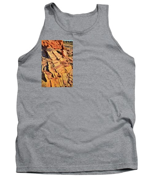 Tank Top featuring the photograph Bands Of Color In Valley Of Fire by Ray Mathis