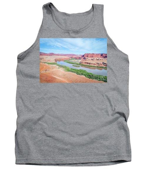 Canyon Of Colorado River In Utah Aerial View Tank Top