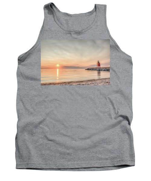 Tank Top featuring the photograph Charelvoix Lighthouse In Charlevoix, Michigan by Peter Ciro