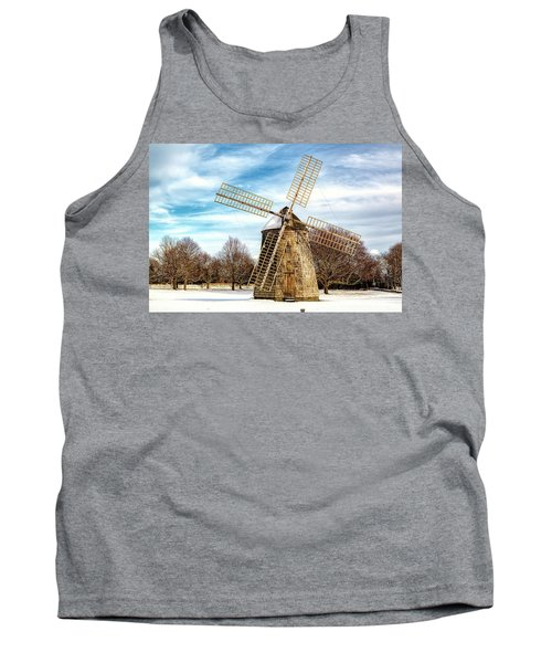 Tank Top featuring the photograph Corwith Windmill Long Island Ny Cii by Susan Candelario