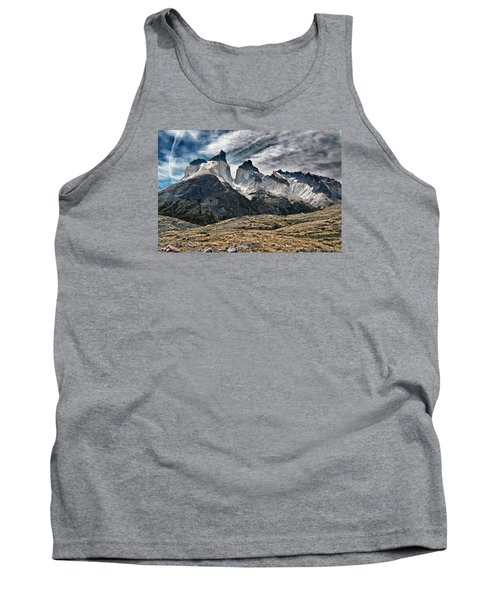 Cuernos Del Paine Tank Top by Alan Toepfer