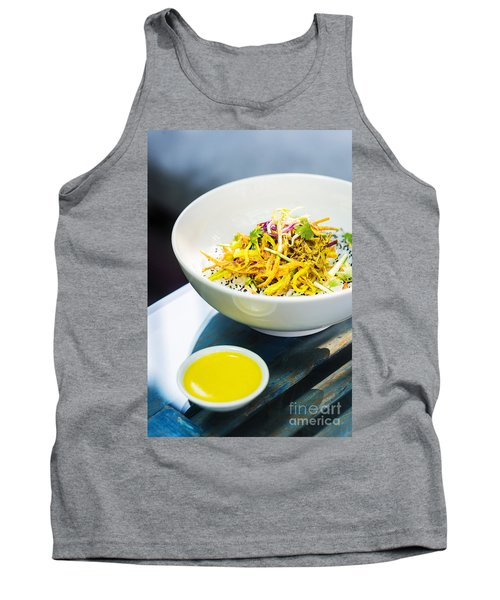 Curry Sauce Vegetable Salad With Noodles And Sesame Tank Top