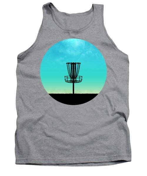 Disc Golf Basket Silhouette Tank Top