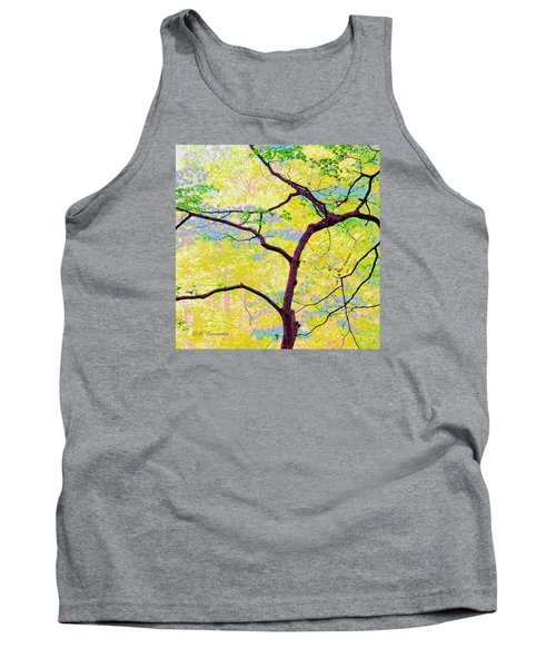 Tank Top featuring the digital art Dogwood Tree In Spring by A Gurmankin