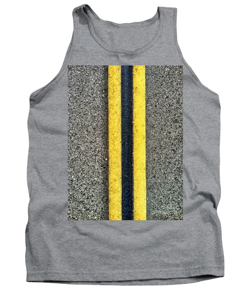Double Yellow Road Lines Tank Top