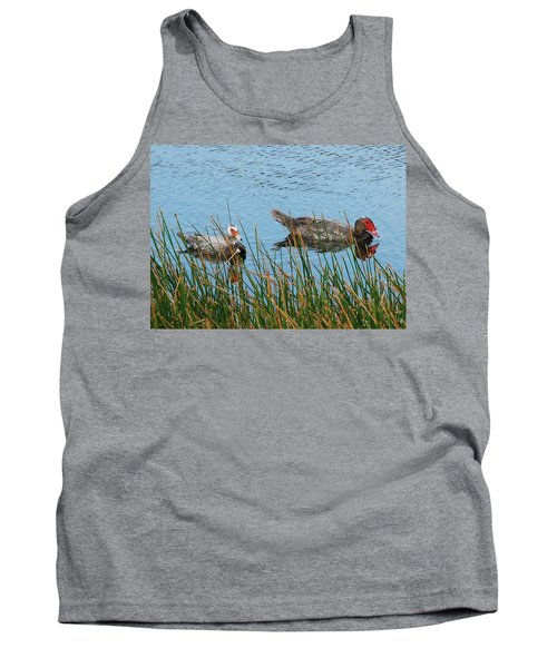 Tank Top featuring the photograph 2- Ducks by Joseph Keane