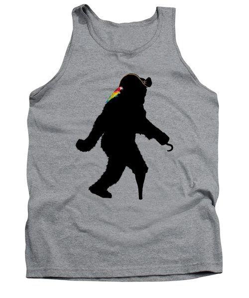 Gone Squatchin Fer Buried Treasure Tank Top