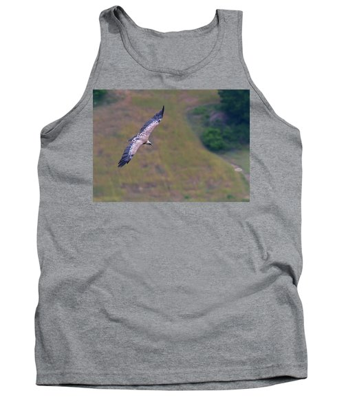 Griffon Vulture Flying, Drome Provencale, France Tank Top