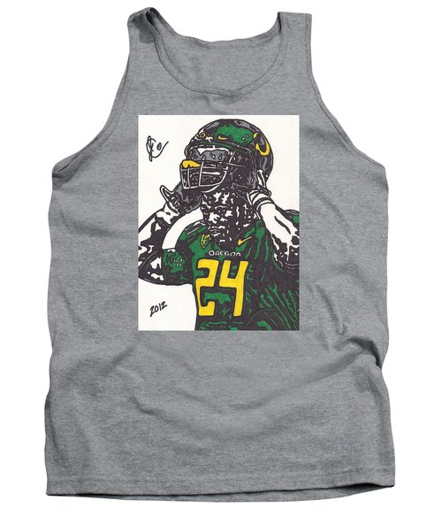 Tank Top featuring the drawing Kenjon Barner 1 by Jeremiah Colley