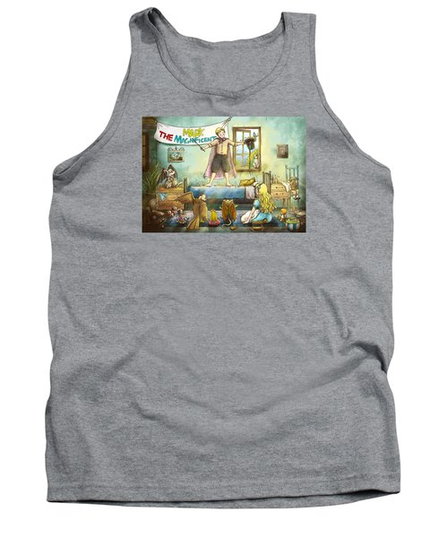 Mark The Magnificent Tank Top by Reynold Jay