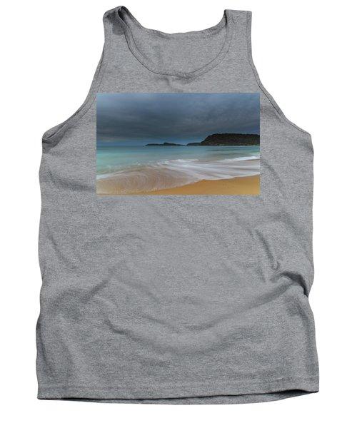 Overcast Cloudy Sunrise Seascape Tank Top