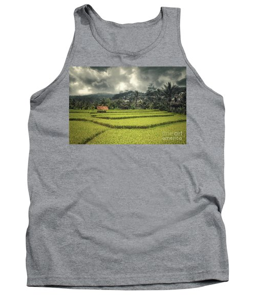 Tank Top featuring the photograph Paddy Field by Charuhas Images
