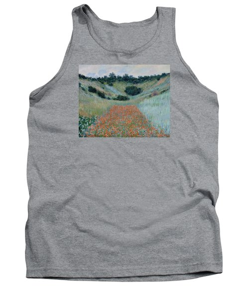 Poppy Field In A Hollow Near Giverny Tank Top