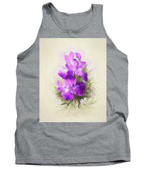 Purple Iris Tank Top