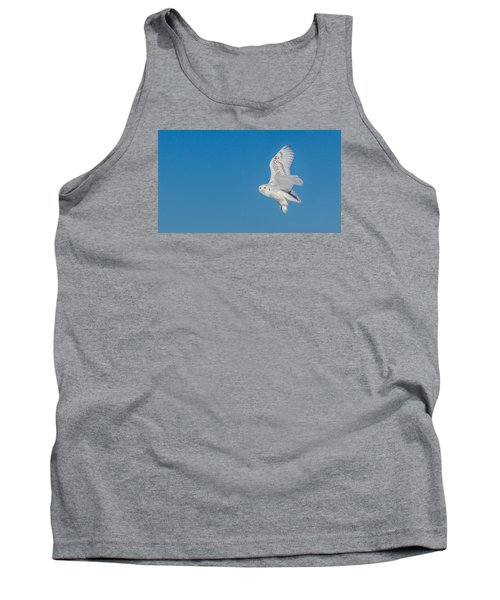 Tank Top featuring the photograph Snowy Owl by Dan Traun
