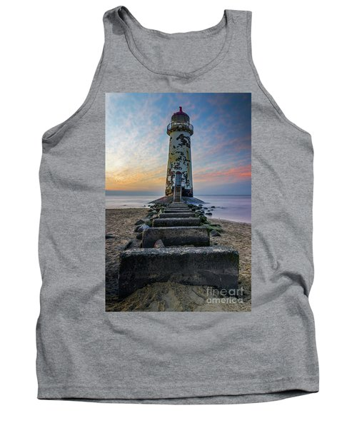 Sunset At The Lighthouse Tank Top by Ian Mitchell