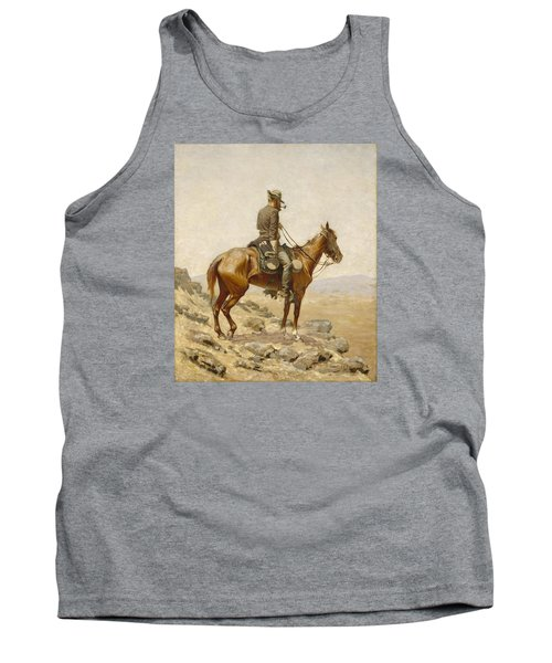 The Lookout Tank Top by Frederic Remington