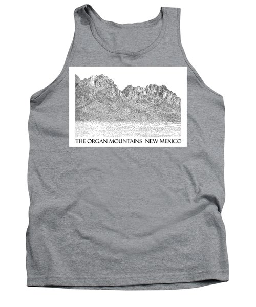 Tank Top featuring the painting The Organ Mountains by Jack Pumphrey