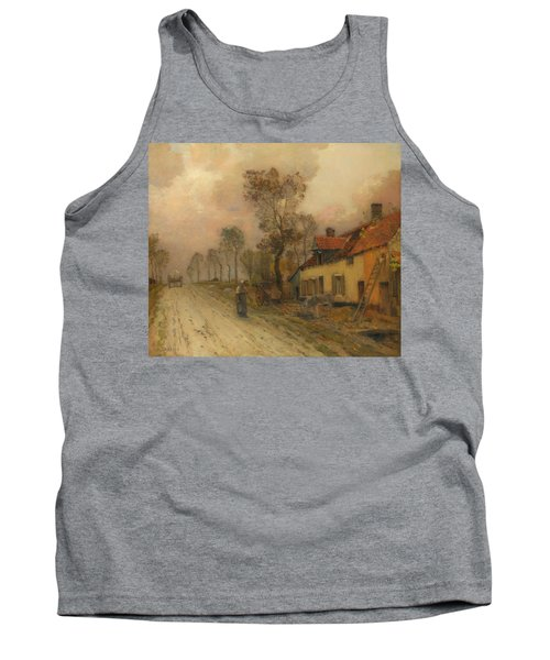 Tank Top featuring the painting The Route Nationale At Samer by Jean-Charles Cazin