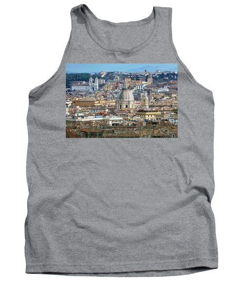 View Of Rome Italy From Atop Gianicolo Hill Tank Top